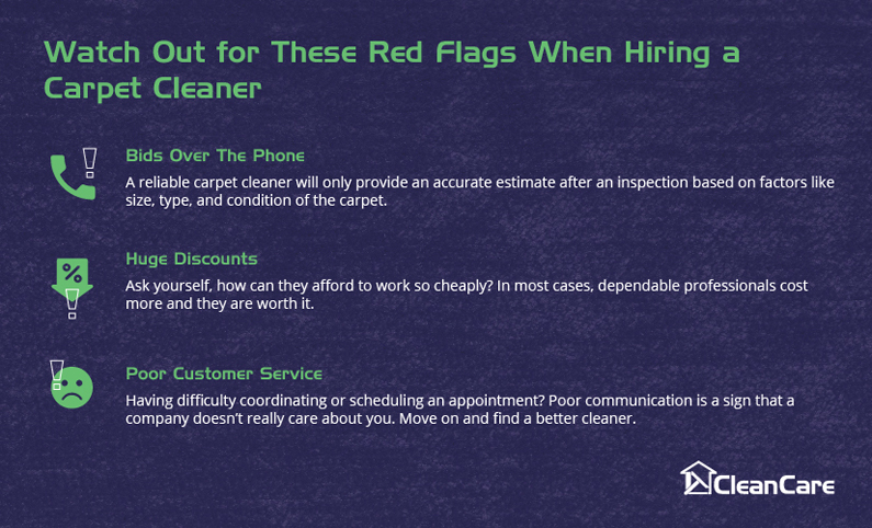 Watch out for these red flags when hiring a carpet cleaning