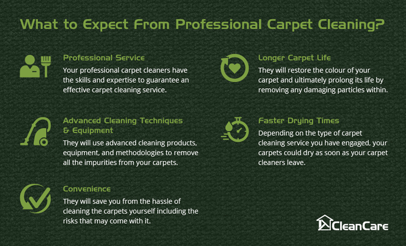 What to expect from professional carpet cleaning