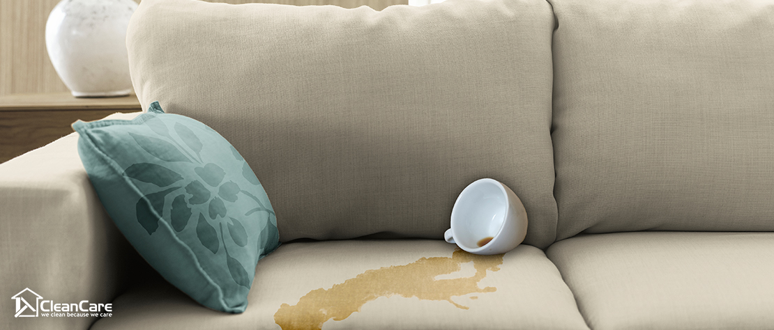 coffee stain needs upholstery cleaning